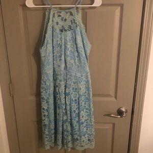Francesca's - turquoise floral lace